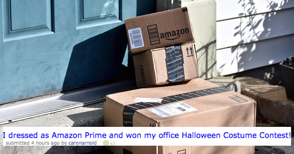 lady dressed as transformer amazon prime wins halloween someecards holidays