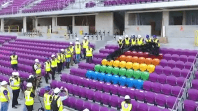 Orlando City soccer team unveils a touching permanent stadium memorial to the Pulse victims.