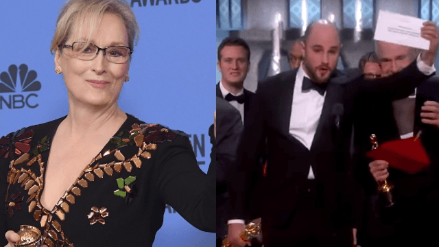 Meryl Streep's hilarious reaction to the Best Picture fiasco is what memes are made of.