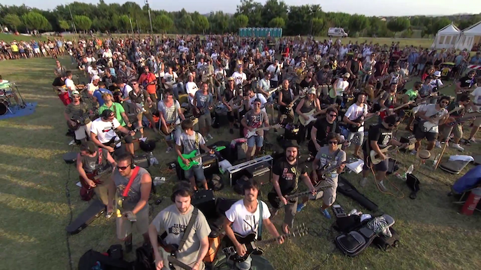"Watch 1,000 musicians play Foo Fighters' ""Learn to Fly"" in the world's most epic jam sesh."