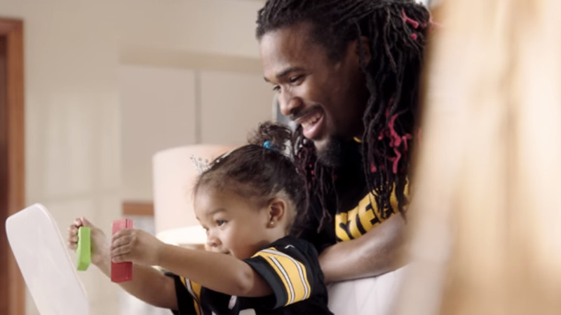 Pantene got football players to do their daughters' hair for Super Bowl ads. The dads got some penalties.