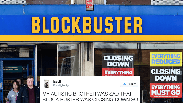 Autistic man was sad about Blockbuster closing so his family did the sweetest possible thing.