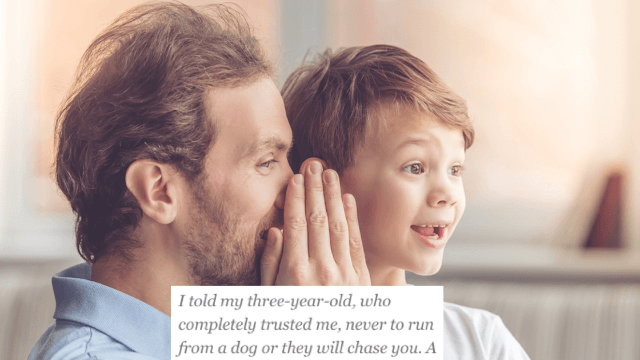 13 parents confess that one thing they regret telling their kids.