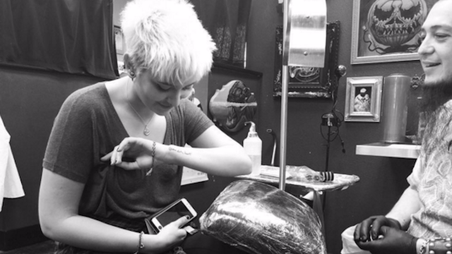 Paris Jackson gets sweet tattoo to remember her dad, as though anyone's forgetting Michael Jackson.
