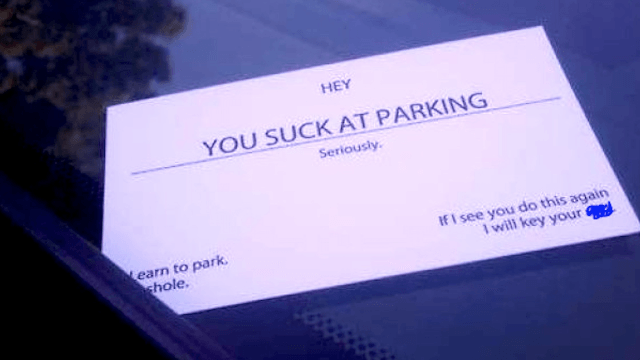 16 people who parked like A-holes and were shamed in very satisfying ways.