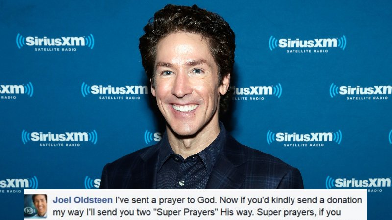 "Someone is trolling megachurch preacher Joel Osteen's Facebook as ""Joel Oldsteen."""