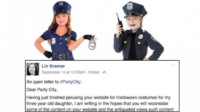 A mom wrote a letter about sexist Halloween costumes to Party City ...