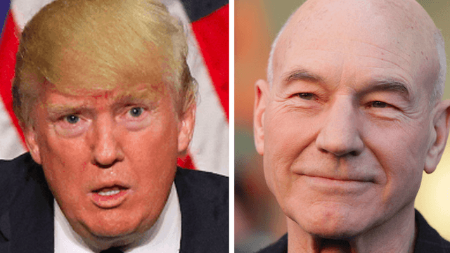 Patrick Stewart is applying to become an American citizen to 'fight, fight' Donald Trump.