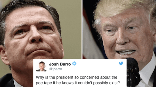 People are freaking out that James Comey's testimony alludes to the pee tape.