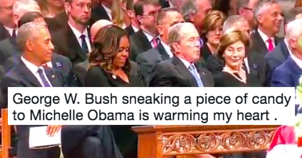 People Are Obsessed With George W Slipping Michelle Obama Candy At