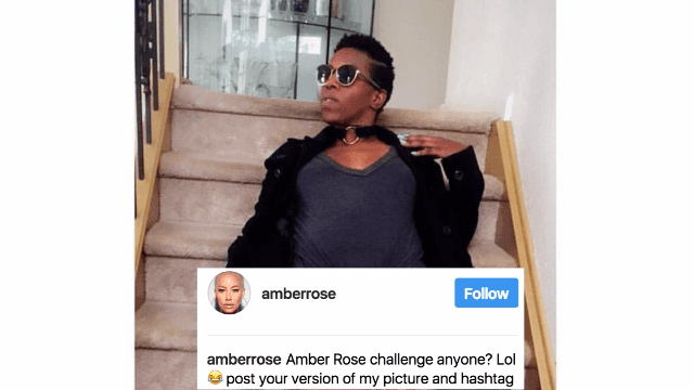 People are taking Amber Rose's 'bring back the bush' challenge to hilarious extremes.