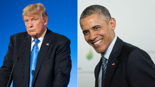 People are trolling Trump on his birthday by celebrating Obama instead. The stand-off continues.