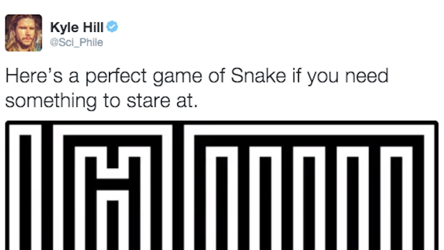 If you ever owned an old not-smart cell phone, this perfect game of 'Snake' will satisfy you.