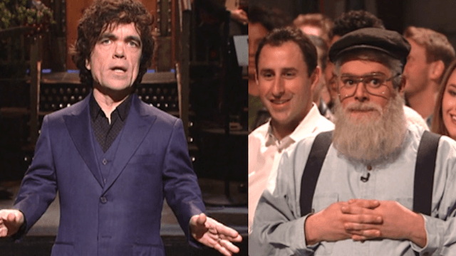 Peter Dinklage's 'SNL' monologue was written by George R.R. Martin, because he has nothing else to do.