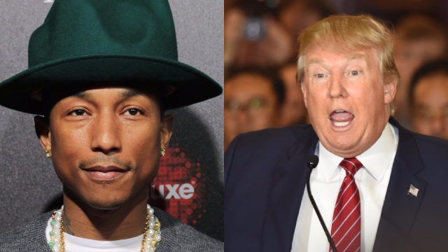 Pharrell threatens to sue Trump for using his 'Happy' song after a massacre.