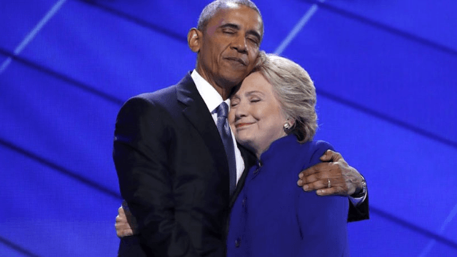 Remember that pic of Obama and Hillary's sweet, gentle hug? The internet got its hands on it.