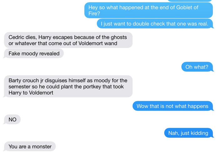 Guy slowly realizes his first read of 'Harry Potter' was actually erotic fan fiction.