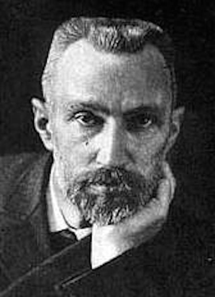 Pierre Curie, proud father of two.