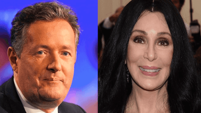 Surprise! Piers Morgan has a problem with Cher's 'inappropriate' boobs.