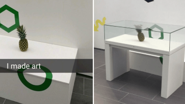 A college student put a pineapple next to an art exhibit. Four days later it was high art.