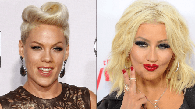 Pink recalls insane story where Christina Aguilera tried to punch her in a club.