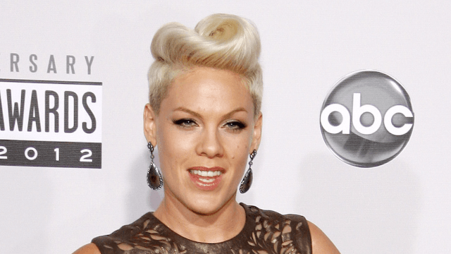 Pink slams haters who think she was cringing during Christina Aguilera's performance at the AMAs.