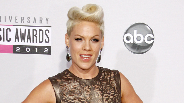 Pink performed at the Grammys wearing an outfit every mom definitely owns.