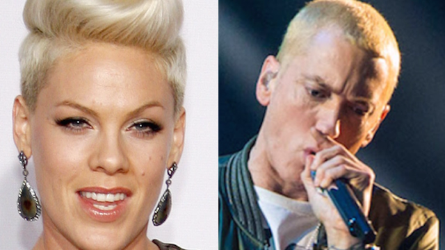 Eminem responded to Pink's drunken 'love' email with one word.
