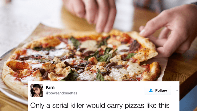 The internet is horrified by the way this person carries their pizzas.