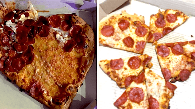 These pics of heart-shaped pizza fails will almost make you glad nobody loves you.