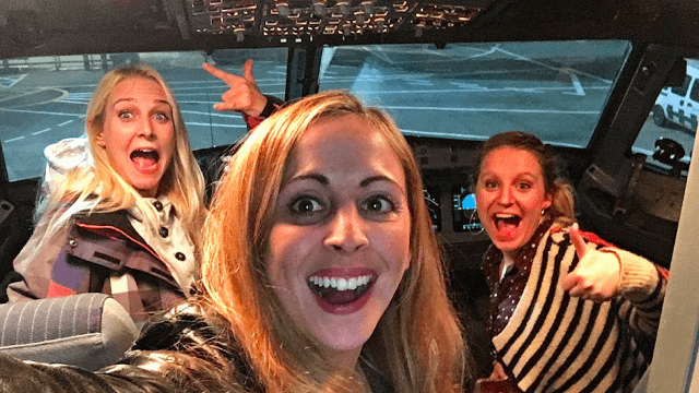 Airline unwittingly gives three women a 'rock star' experience after their flight got delayed.