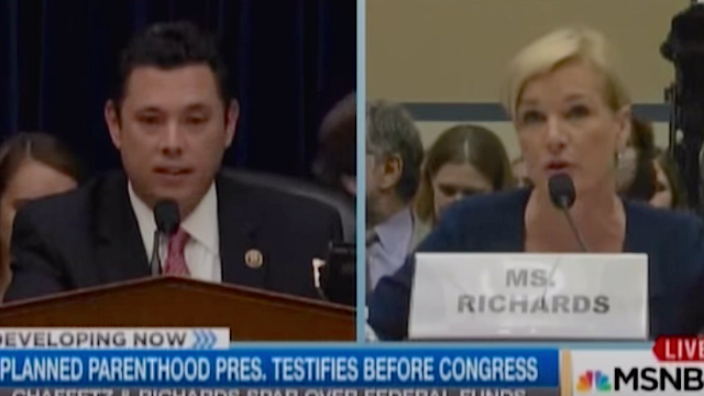 Planned Parenthood President Cecile Richards shut down an angry congressman at yesterday's hearing.
