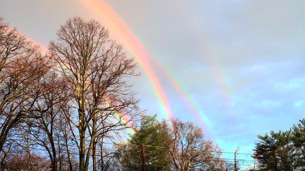 Please take a moment to look at this incredible quadruple rainbow.