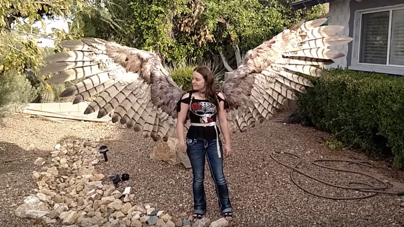 This artist's human-size pneumatic wings are the closest thing you can get to being a bird.