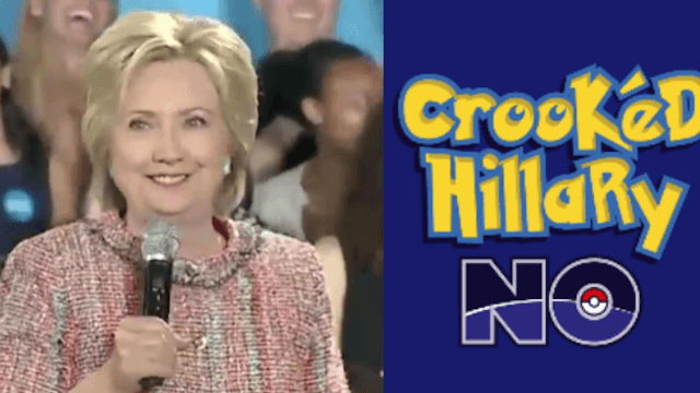 Trump and 'Crookéd Hillary' take their battle for voters to the Pokémon gym.