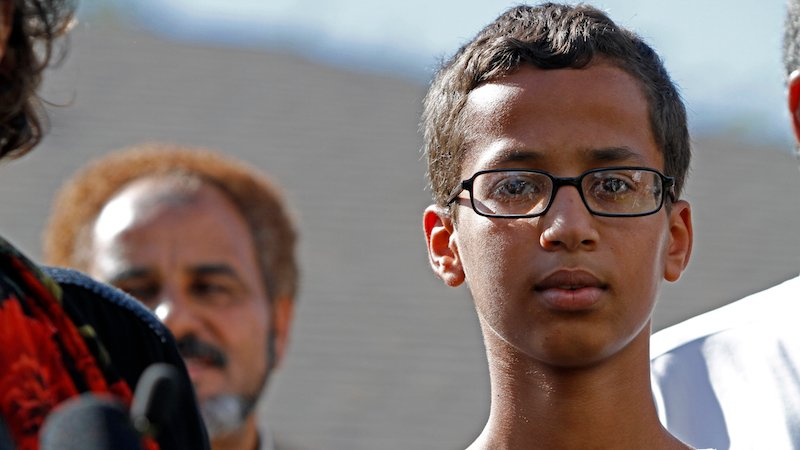 The Texas police interview of Ahmed the clockmaker may have been illegal. Darn those pesky civil rights.