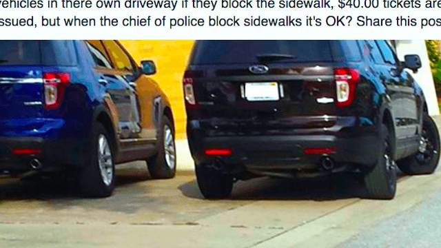 Police chief forced to write himself a ticket after Facebook sleuths caught him parking illegally.