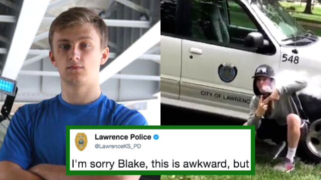 Police department hilariously trolls teen who bragged about vaping on Twitter.