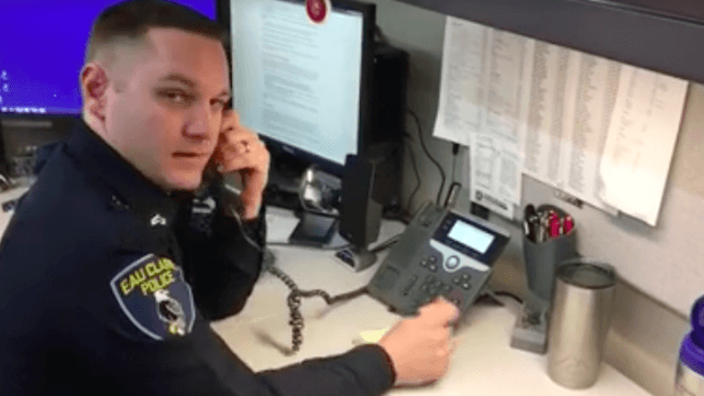 Police officer returns call from phone scammer who pretended to be IRS—just to make him sweat.