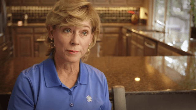 This politician's wife made a campaign video just to keep him away from home.
