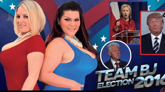 Patriotic porn stars offer ultimate bribe to anyone who votes against Donald Trump.