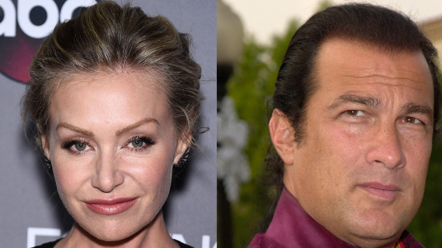 Portia de Rossi accuses Steven Seagal of unzipping his pants during an audition. Her female agent didn't help.