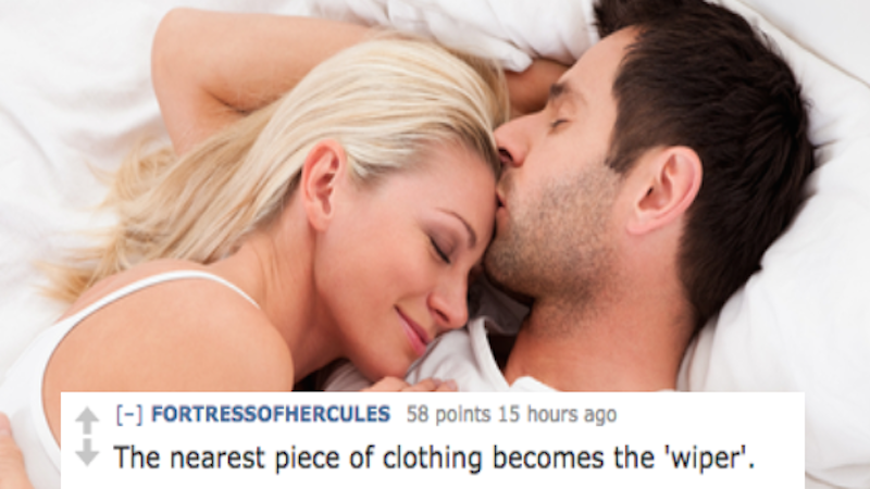 People are sharing their post-sex routines and they're both sensual and practical.