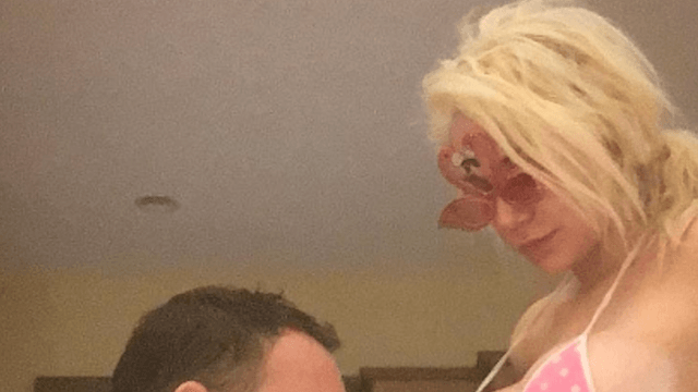 Courtney Stodden posts creepy bikini picture in honor of husband's first Father's Day.