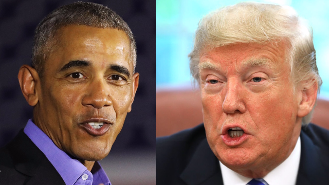 Trump claims he fell asleep watching Obama speech