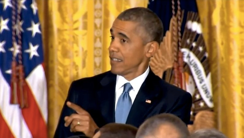 President Obama had the best response to a heckler at the White House.
