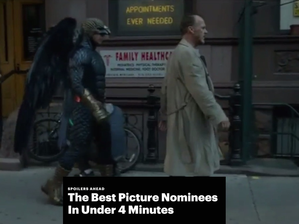 Pretend you watched the Best Picture nominees with this 4-minute summary.
