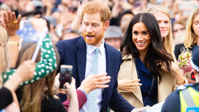 People react to Harry and Meghan's decision to step back from Royal Family over racist press.