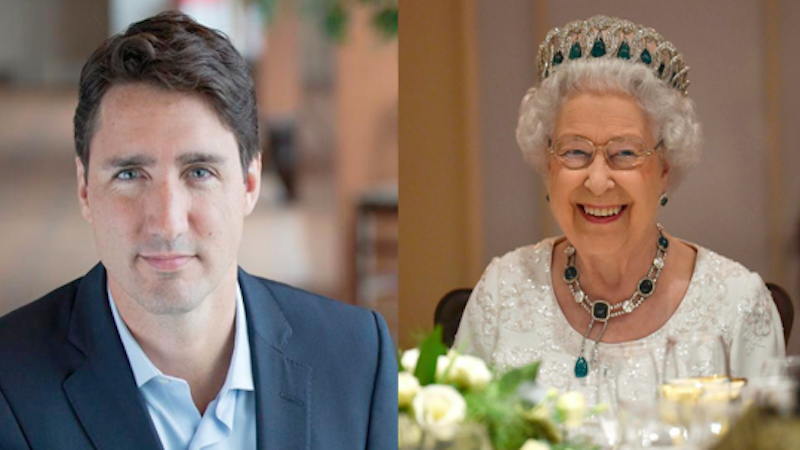 Canadian Prime Minister charms the Queen of England with his handsome magic.