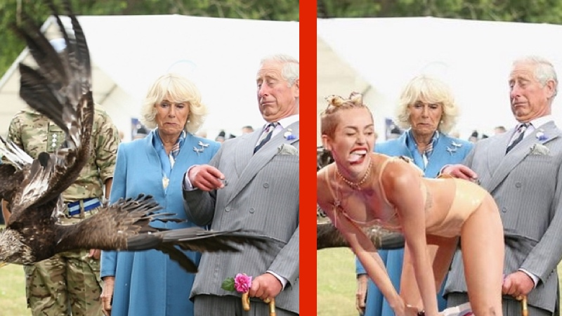 Prince Charles, heir to the British throne, cowered before a mighty eagle, and a meme was born.